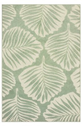 Avalon Home Bateau Tropical Leaf Indoor/Outdoor Mixed Pile Area Rug