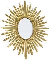 Accents For The Home Oval Starburst Mirror, Antique Gold