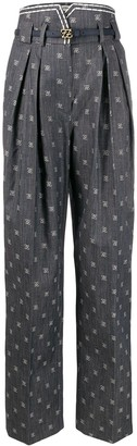 Fendi Karligraphy tailored trousers
