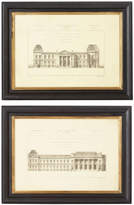 OKA Pair of 19th Century Architectural Prints