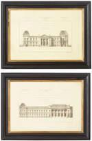 OKA Pair of 19th Century Architectural Prints