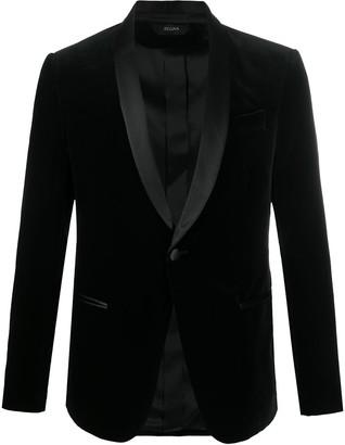 Ermenegildo Zegna Single Breasted Velvet Smoking Jacket