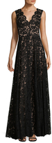 Vera Wang Lace Gathered Gown