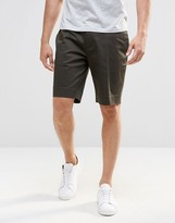 Asos Skinny Smart Shorts In Cotton Sateen
