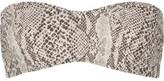 Norma Kamali Sunglass Snake-Print Bandeau Bikini Top