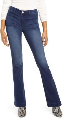 Prosperity Denim Patch Pocket Flare Jeans
