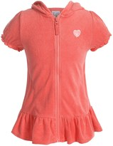 Pink Platinum French Terry Swimsuit Cover-Up - Short Sleeve (For Big Girls)
