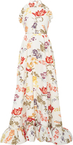 Rosie Assoulin Antique Floral Print Gown