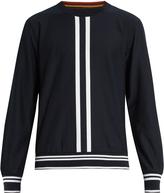 Paul Smith Stripe-intarsia cotton sweatshirt