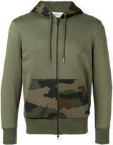 Moncler camouflage detail hoodie - men - Cotton/Polyamide - S