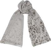 Jimmy Choo MARA Grey and Black Printed Silk Stole