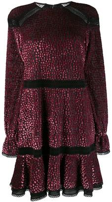 Talbot Runhof Mosaic Velvet Flared Dress