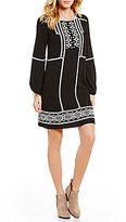 M.S.S.P. Eyelet Embroidered Peasant Shift Dress