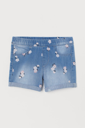 H&M Printed denim shorts