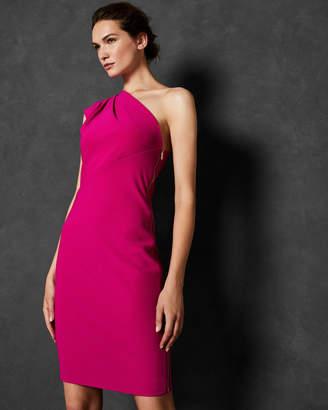 Ted Baker BETTIEA Pleat fold one shoulder dress