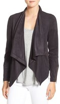 Cupcakes And Cashmere 'Mackenzie' Faux Suede Drape Front Jacket