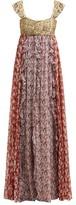 Valentino Spring Garden-print Silk-chiffon Gown - Womens - Multi