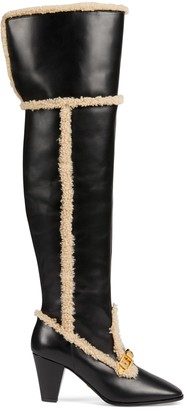 Gucci Women's over-the-knee boot with chain