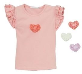 Mi Amore Gigi Little and Big Girls Interchangeable Heart Top