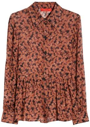 Max & Co. Floral Georgette Shirt