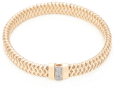Roberto Coin Primavera 18K Rose Gold & 0.10 Total Ct. Diamond Flexible Bangle Bracelet