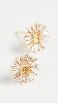 Suzanne Kalan 18k Yellow Gold Fireworks Yellow Sapphire Earrings