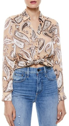 Alice + Olivia Eloise Paisley Button Down Blouse