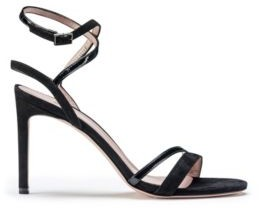 HUGO BOSS Strappy Sandals In Italian Leather And Suede - Black