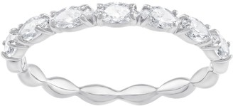 Swarovski Vittore Marquise Ring Size 55 with Brilliant White Crystals on a Rhodium Plated Band Part of the Vittore Collection