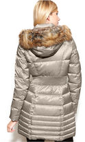 Laundry by Shelli Segal Faux-Fur-Trim Hooded Parka Puffer Coat