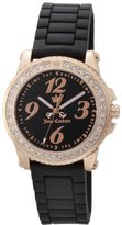 Juicy Couture Women's 1900724 Pedigree Black Jelly Strap Watch