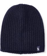Ralph Lauren Slouchy Ribbed Merino Wool Cap