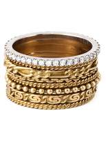 Wouters & Hendrix Gold set of 8 stacking rings