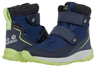 Jack Wolfskin Kids Polar Bear Texapore Mid VC (Toddler/Little Kid/Big Kid) (Blue/Lime) Kids Shoes