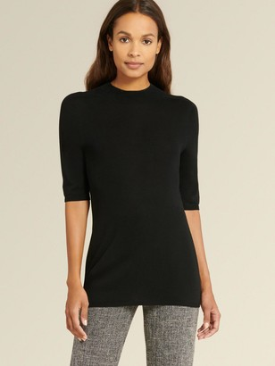 DKNY Elbow Sleeve Mock-neck Sweater