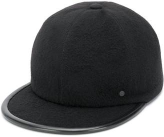 Maison Michel leather trim baseball cap