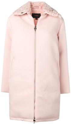 Giambattista Valli Fur Trimmed Zip-Up Coat