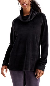 32 Degrees Funnel-Neck Velour Tunic