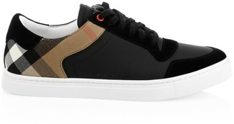 Burberry Reeth Low-Top Check Detail Sneakers