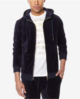 Sean John Men's Travel Velour Zip-Front Hoodie, Created for Macy's