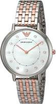 Emporio Armani Women's AR2508 Kappa Analog Display Analog Quartz Silver Watch