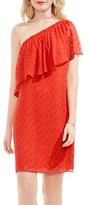 Vince Camuto Women's Dot Jacquard One-Shoulder Dress