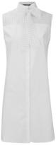 Karl Lagerfeld Women's Bow Blouse Tunic Dress White