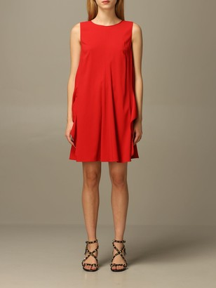 RED Valentino Dress In Crecirc;pe With Bow
