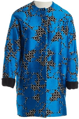 Balenciaga Blue Cotton Coat for Women