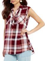 Takara Sleeveless Plaid Shirt