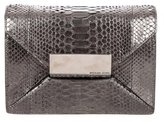Michael Kors Metallic Python Clutch