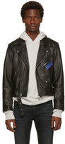 Enfants Riches Deprimes Black Porsche Crash Leather Jacket