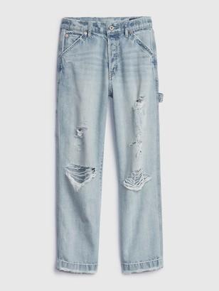Gap 1969 Premium High Rise Distressed Carpenter Jeans