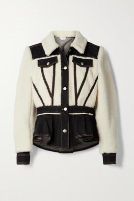Alexander McQueen - Paneled Wool-blend And Denim Jacket - Ivory